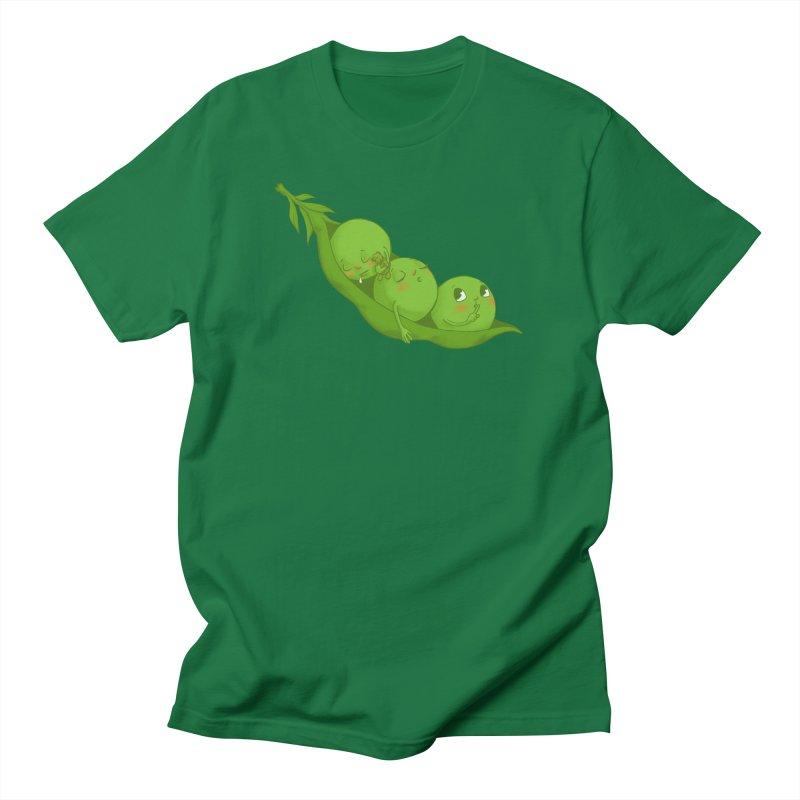 Peas & Quiet Men's T-Shirt by Luke Wisner