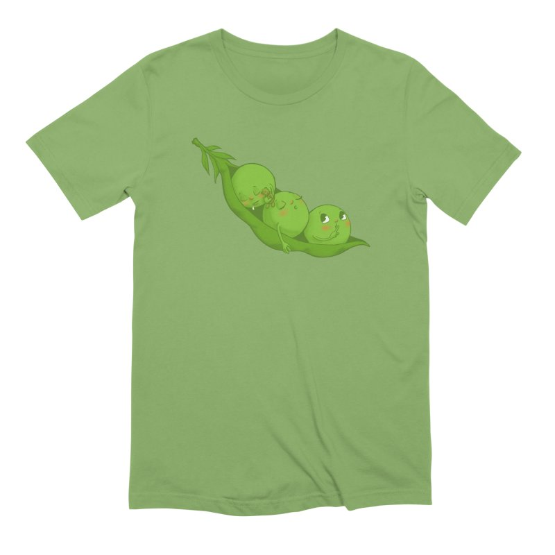 Peas & Quiet Men's Extra Soft T-Shirt by Luke Wisner