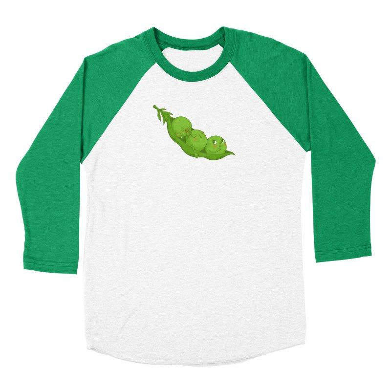 Peas & Quiet Men's Baseball Triblend Longsleeve T-Shirt by Luke Wisner