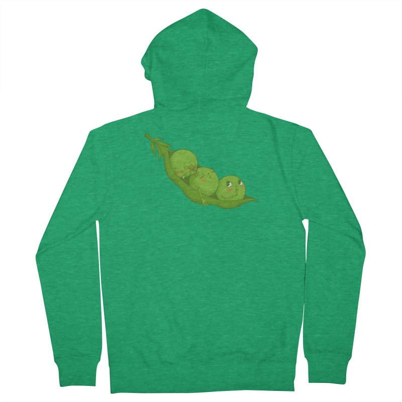 Peas & Quiet Men's French Terry Zip-Up Hoody by Luke Wisner