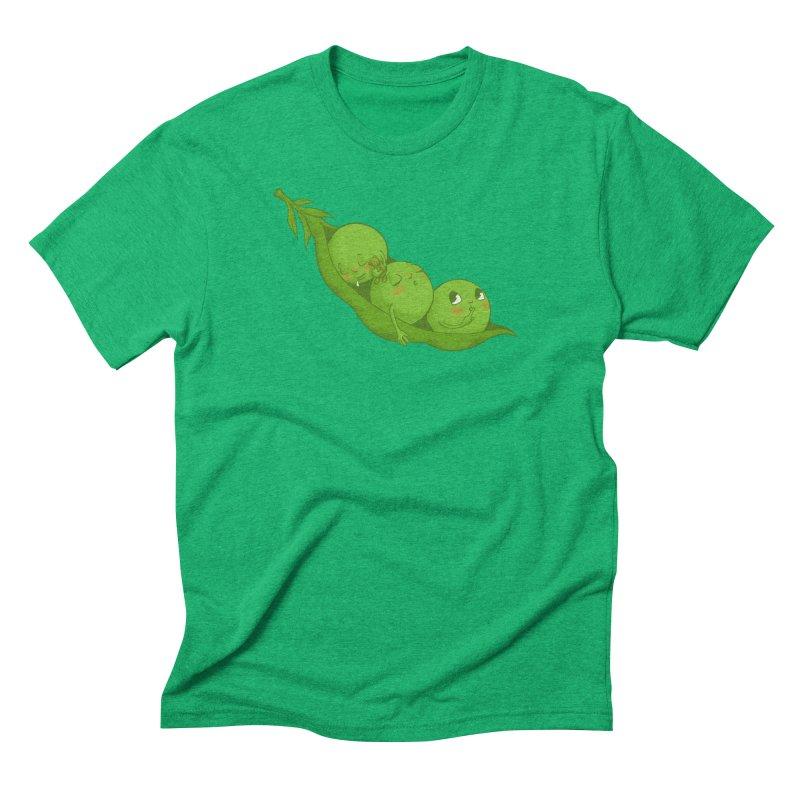 Peas & Quiet Men's Triblend T-Shirt by Luke Wisner