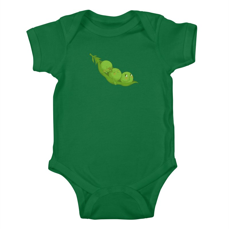 Peas & Quiet Kids Baby Bodysuit by Luke Wisner