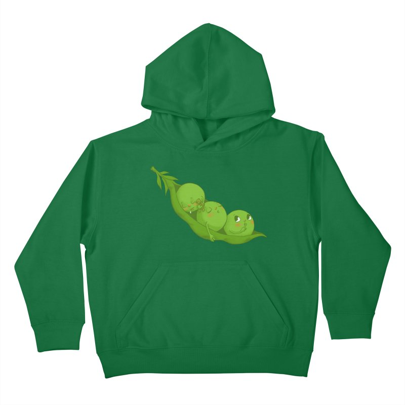 Peas & Quiet Kids Pullover Hoody by Luke Wisner