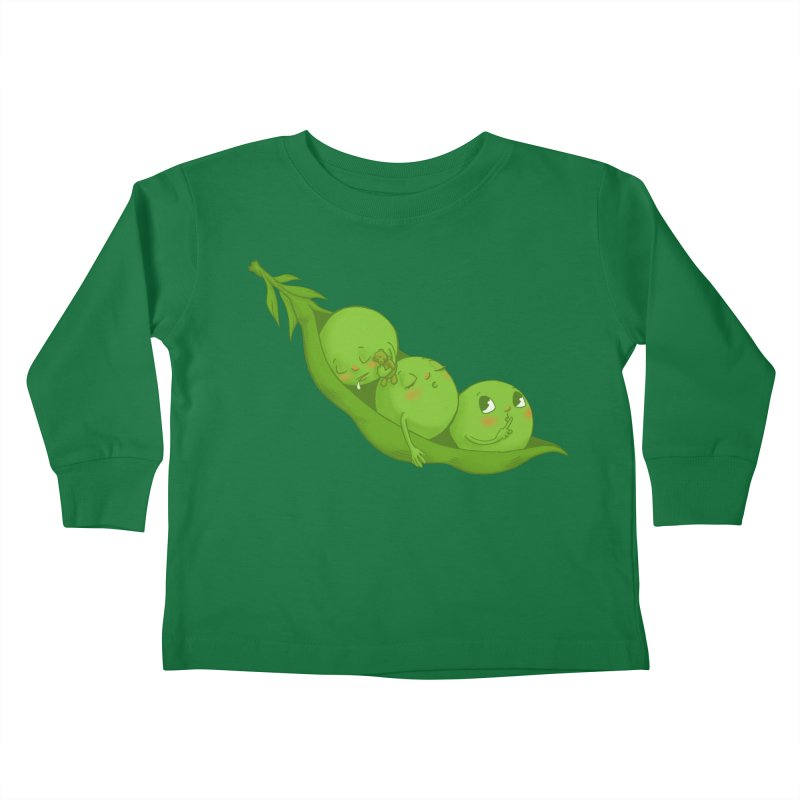 Peas & Quiet Kids Toddler Longsleeve T-Shirt by Luke Wisner