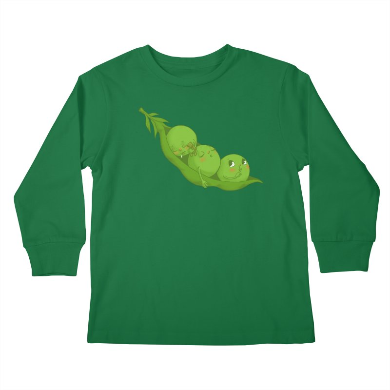 Peas & Quiet Kids Longsleeve T-Shirt by Luke Wisner