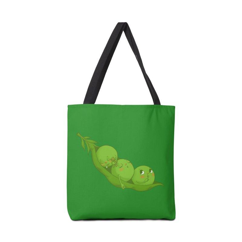 Peas & Quiet Accessories Tote Bag Bag by Luke Wisner