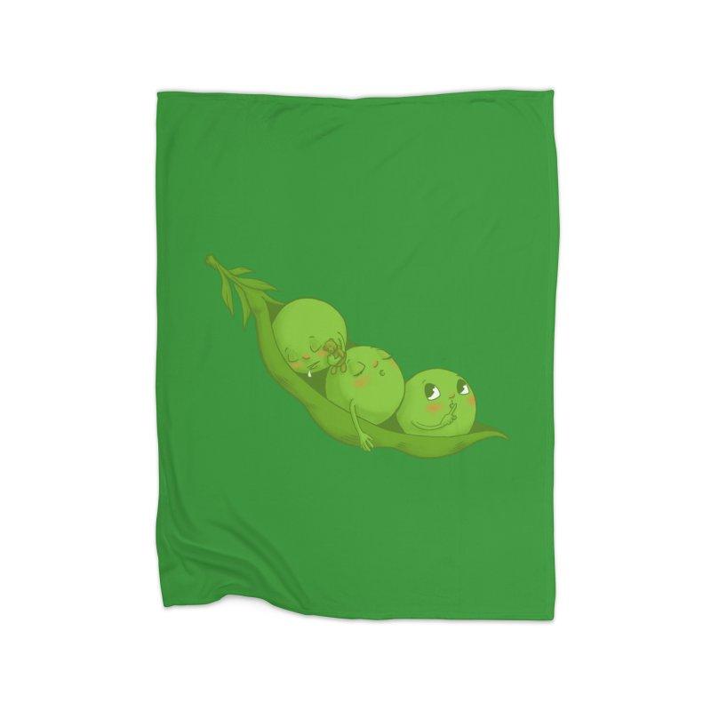 Peas & Quiet Home Fleece Blanket Blanket by Luke Wisner