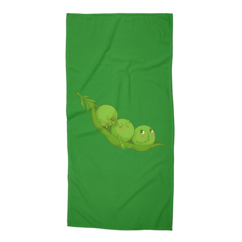 Peas & Quiet Accessories Beach Towel by Luke Wisner