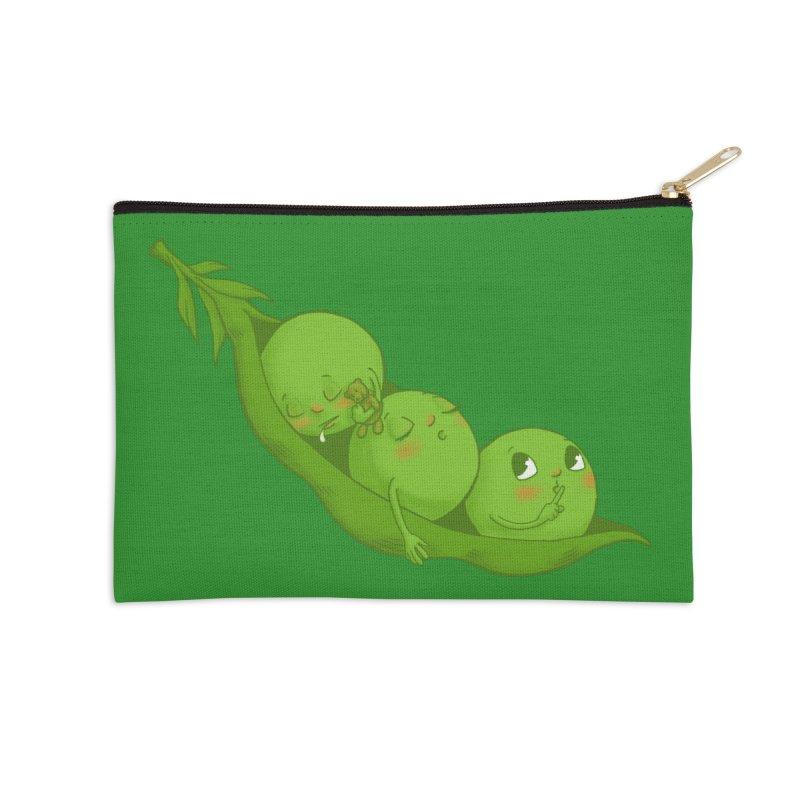 Peas & Quiet Accessories Zip Pouch by Luke Wisner