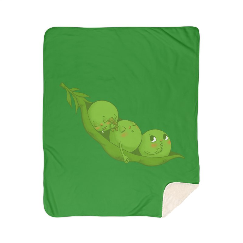 Peas & Quiet Home Sherpa Blanket Blanket by Luke Wisner