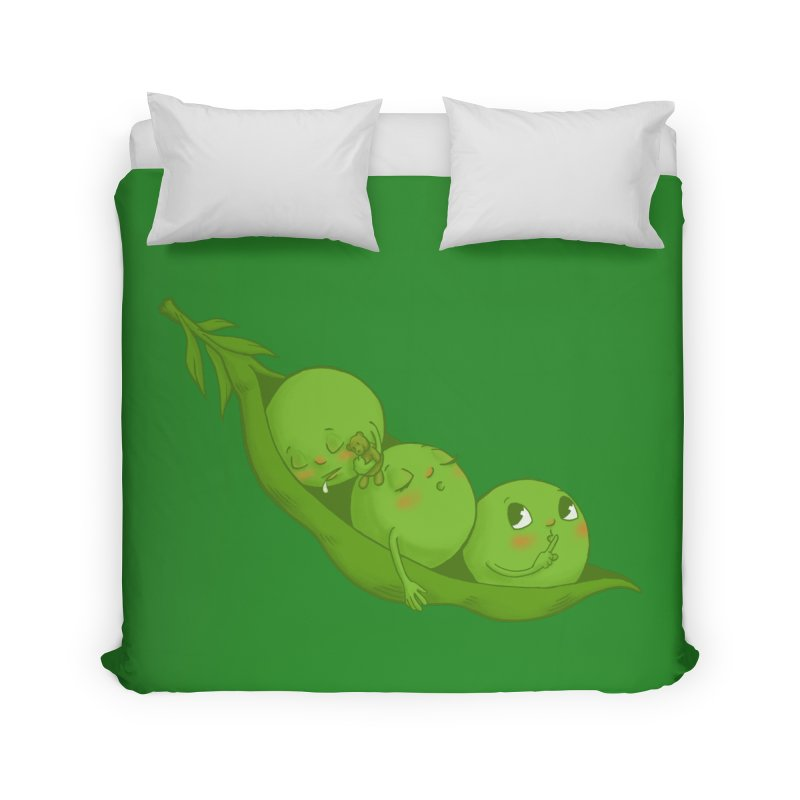 Peas & Quiet Home Duvet by Luke Wisner