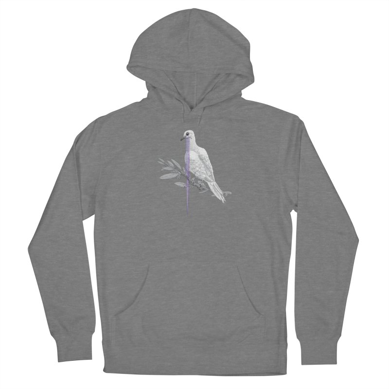 When Dove's Cry Men's French Terry Pullover Hoody by Luke Wisner