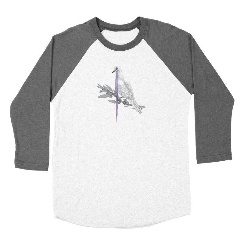 When Dove's Cry Men's Baseball Triblend Longsleeve T-Shirt by Luke Wisner