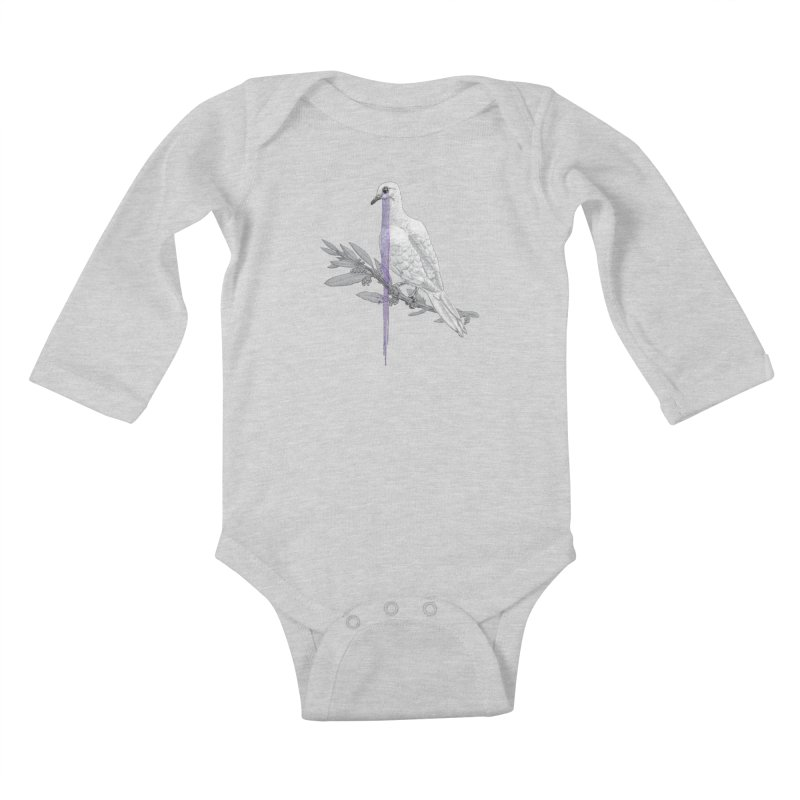 When Dove's Cry Kids Baby Longsleeve Bodysuit by Luke Wisner