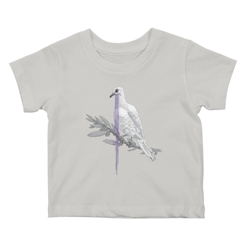 When Dove's Cry Kids Baby T-Shirt by Luke Wisner