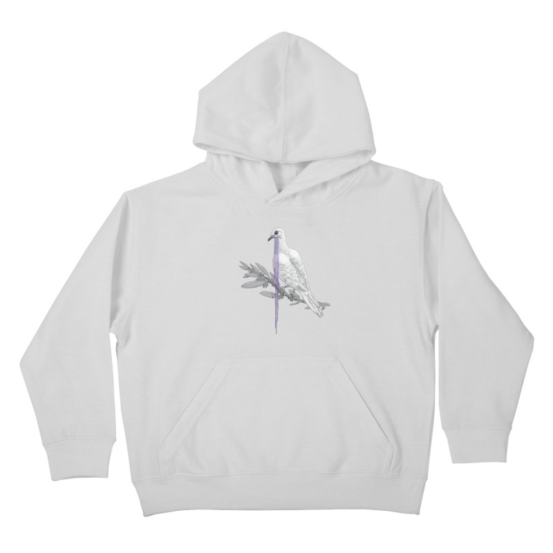 When Dove's Cry Kids Pullover Hoody by Luke Wisner