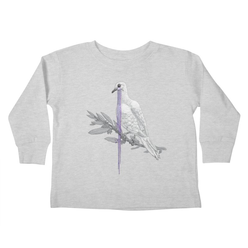 When Dove's Cry Kids Toddler Longsleeve T-Shirt by Luke Wisner