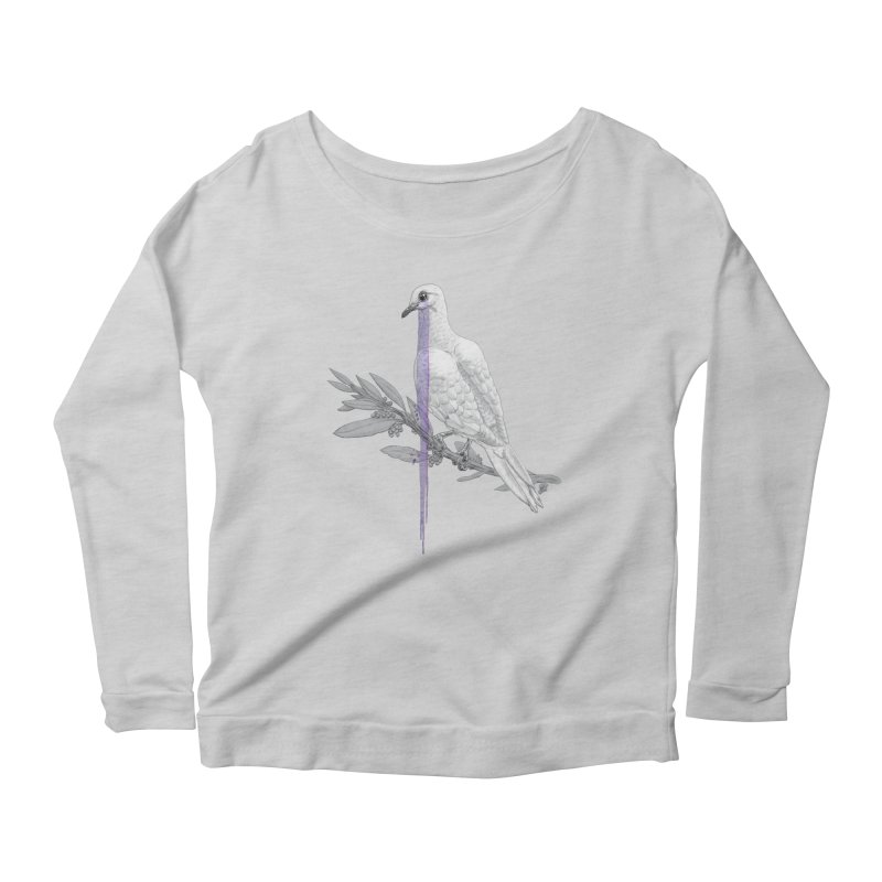 When Dove's Cry Women's Longsleeve Scoopneck  by Luke Wisner