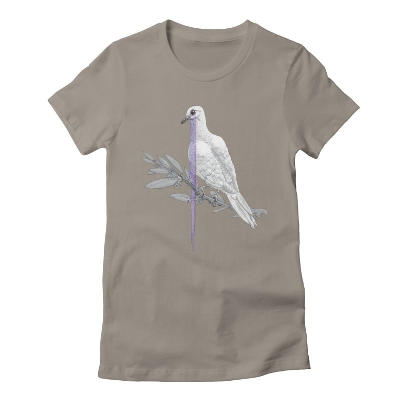 When Dove's Cry Women's Fitted T-Shirt by Luke Wisner