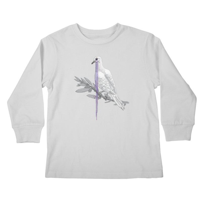 When Dove's Cry Kids Longsleeve T-Shirt by Luke Wisner