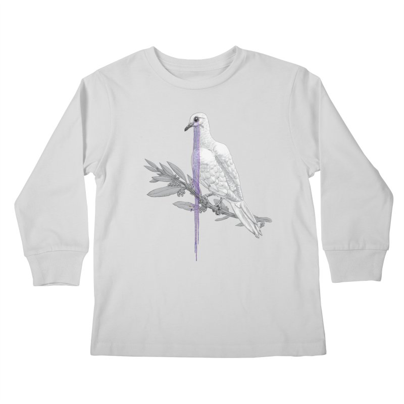 When Dove's Cry Kids Longsleeve T-Shirt by Luke Wisner