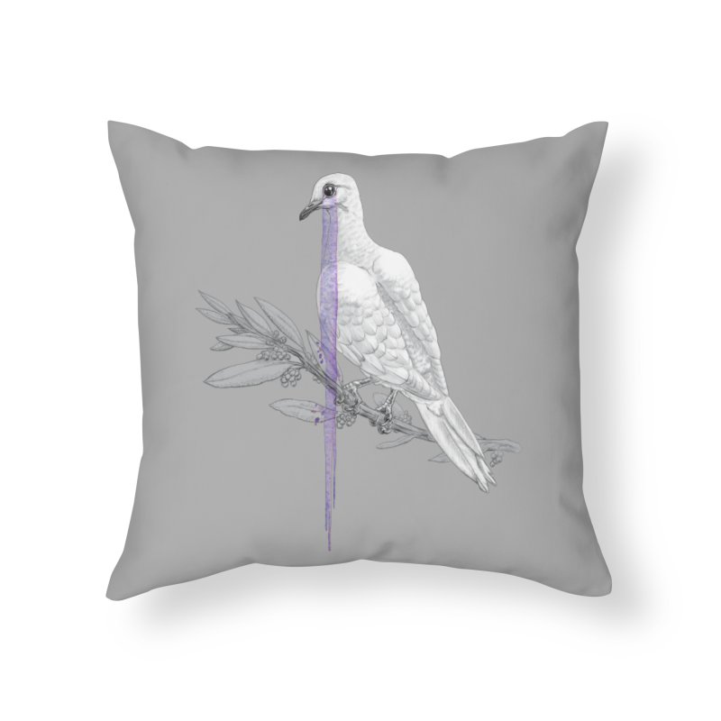 When Dove's Cry Home Throw Pillow by Luke Wisner
