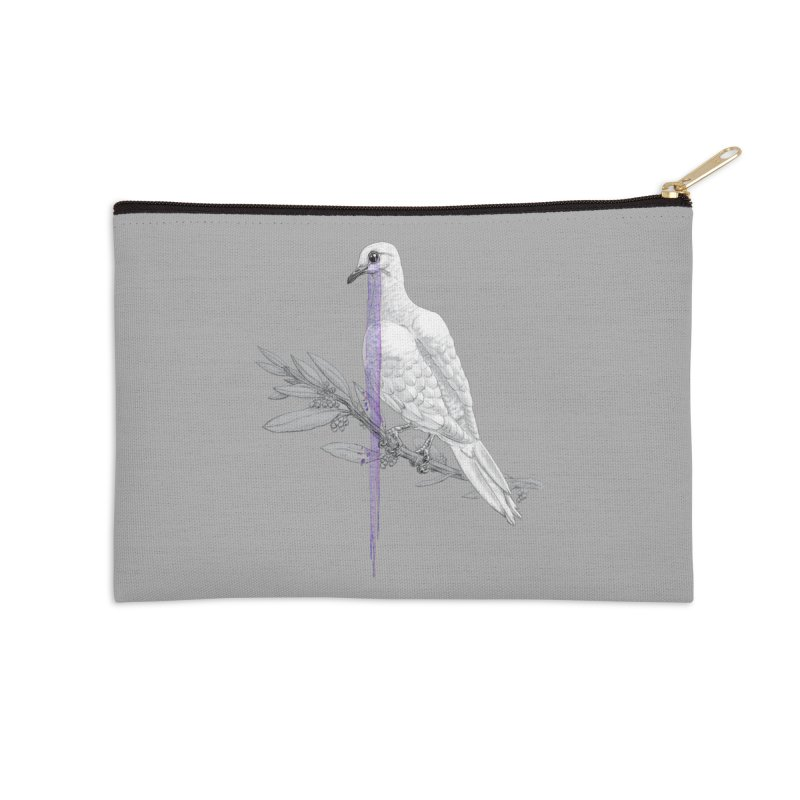 When Dove's Cry Accessories Zip Pouch by Luke Wisner