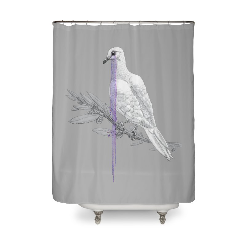 When Dove's Cry Home Shower Curtain by Luke Wisner