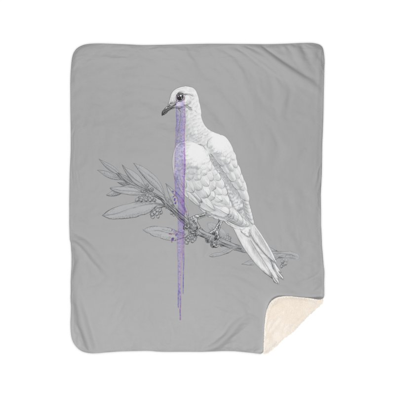 When Dove's Cry Home Sherpa Blanket Blanket by Luke Wisner