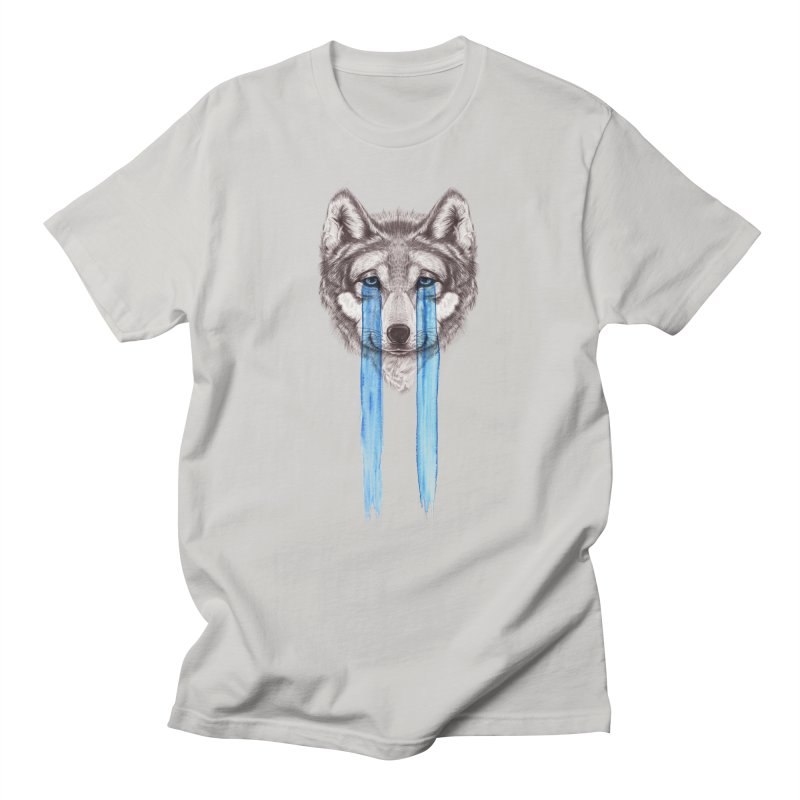 Don't Cry Wolf Men's T-Shirt by Luke Wisner