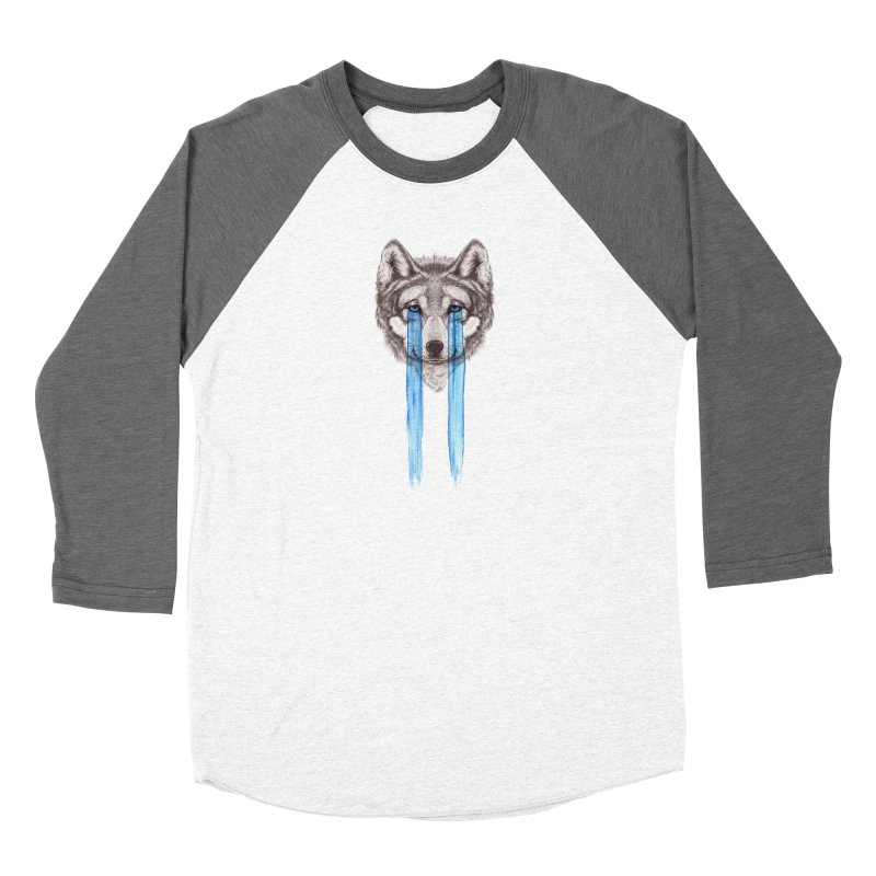 Don't Cry Wolf Men's Baseball Triblend Longsleeve T-Shirt by Luke Wisner