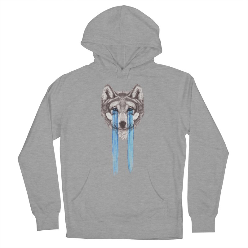 Don't Cry Wolf Men's Pullover Hoody by Luke Wisner