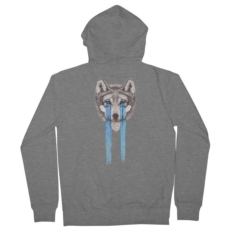 Don't Cry Wolf Women's Zip-Up Hoody by Luke Wisner