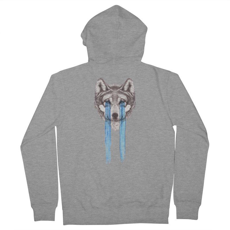 Don't Cry Wolf Men's Zip-Up Hoody by Luke Wisner