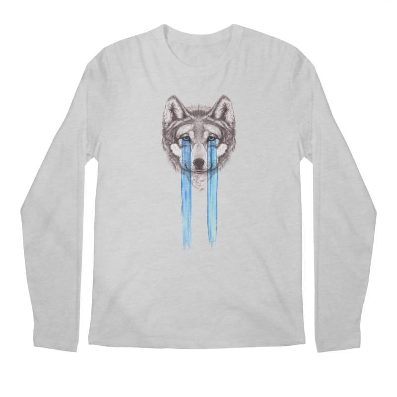 Don't Cry Wolf Men's Regular Longsleeve T-Shirt by Luke Wisner