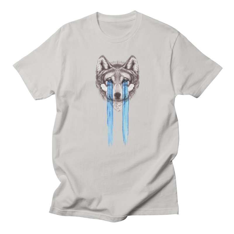 Don't Cry Wolf Men's T-Shirt by Luke Wisner