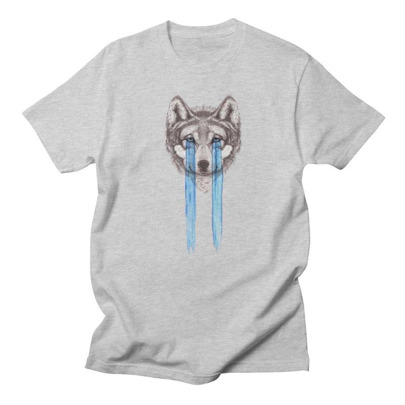Don't Cry Wolf Men's Regular T-Shirt by Luke Wisner