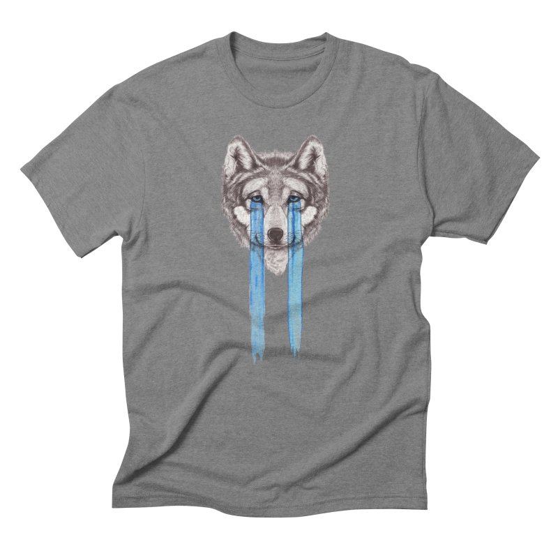 Don't Cry Wolf Men's Triblend T-Shirt by Luke Wisner