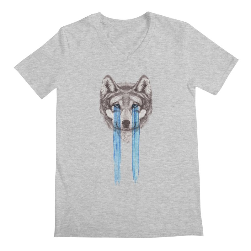 Don't Cry Wolf Men's V-Neck by Luke Wisner