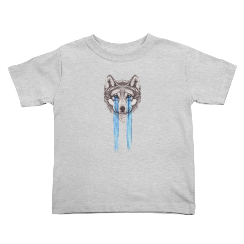 Don't Cry Wolf Kids Toddler T-Shirt by Luke Wisner