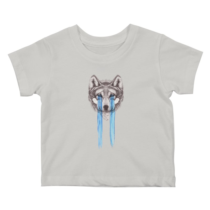 Don't Cry Wolf Kids Baby T-Shirt by Luke Wisner