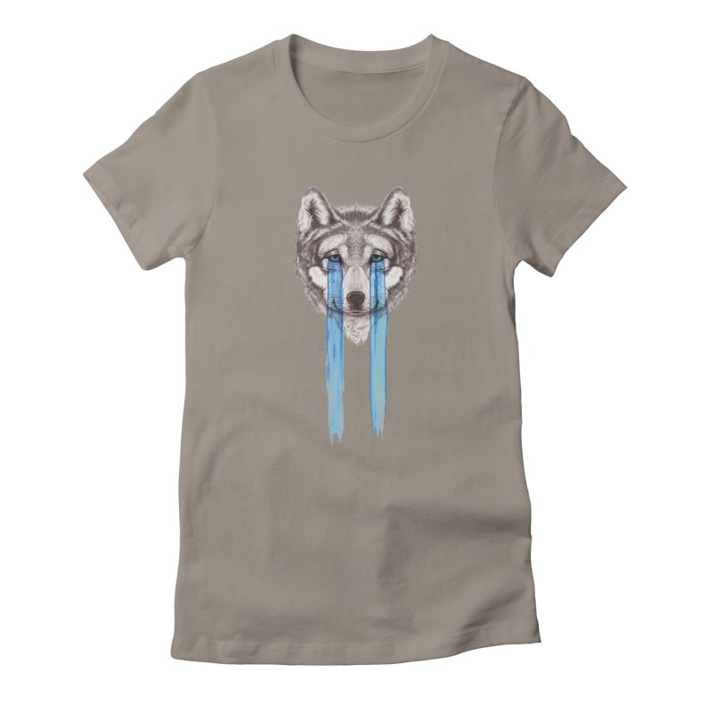 Don't Cry Wolf Women's T-Shirt by Luke Wisner