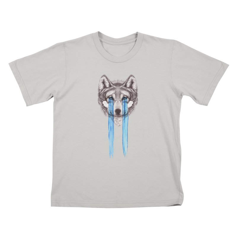 Don't Cry Wolf Kids T-Shirt by Luke Wisner
