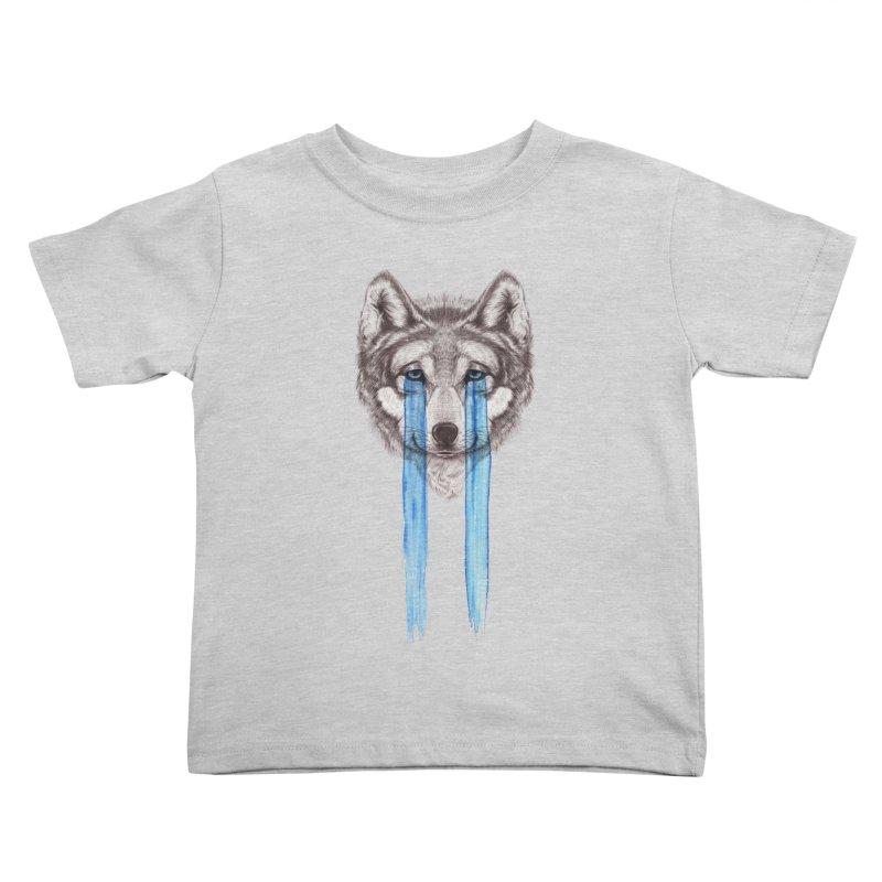 Don't Cry Wolf Kids Toddler T-Shirt by Luke Wisner