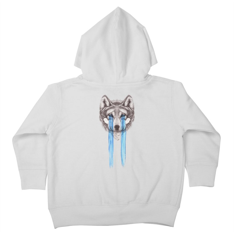 Don't Cry Wolf Kids Toddler Zip-Up Hoody by Luke Wisner