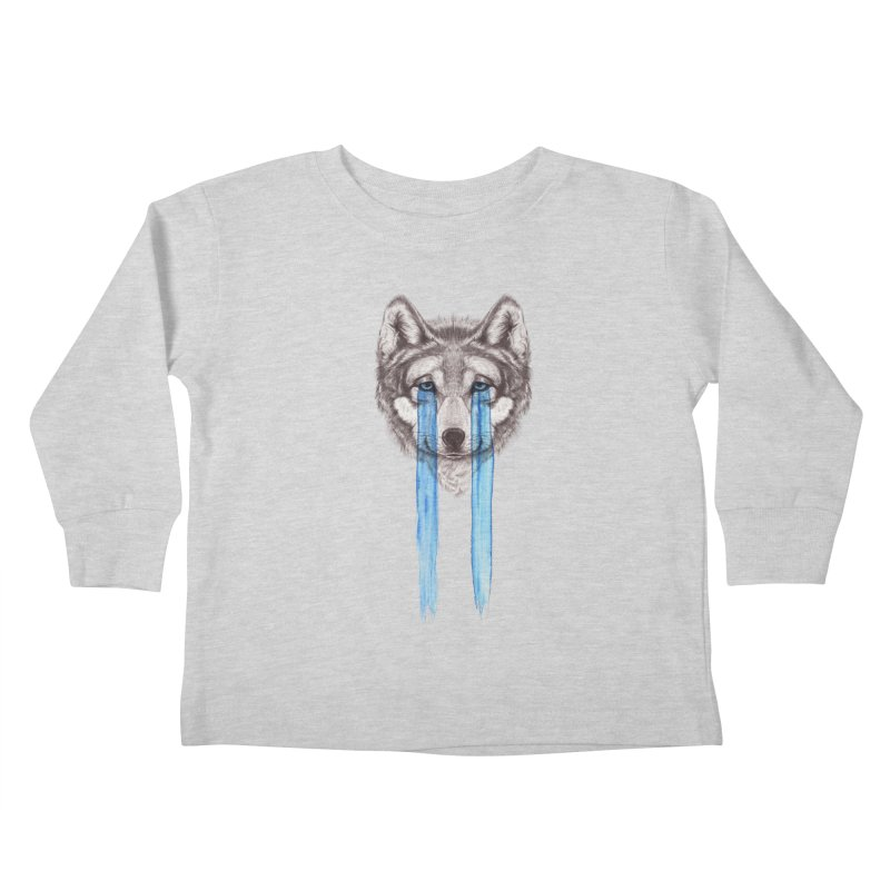 Don't Cry Wolf Kids Toddler Longsleeve T-Shirt by Luke Wisner