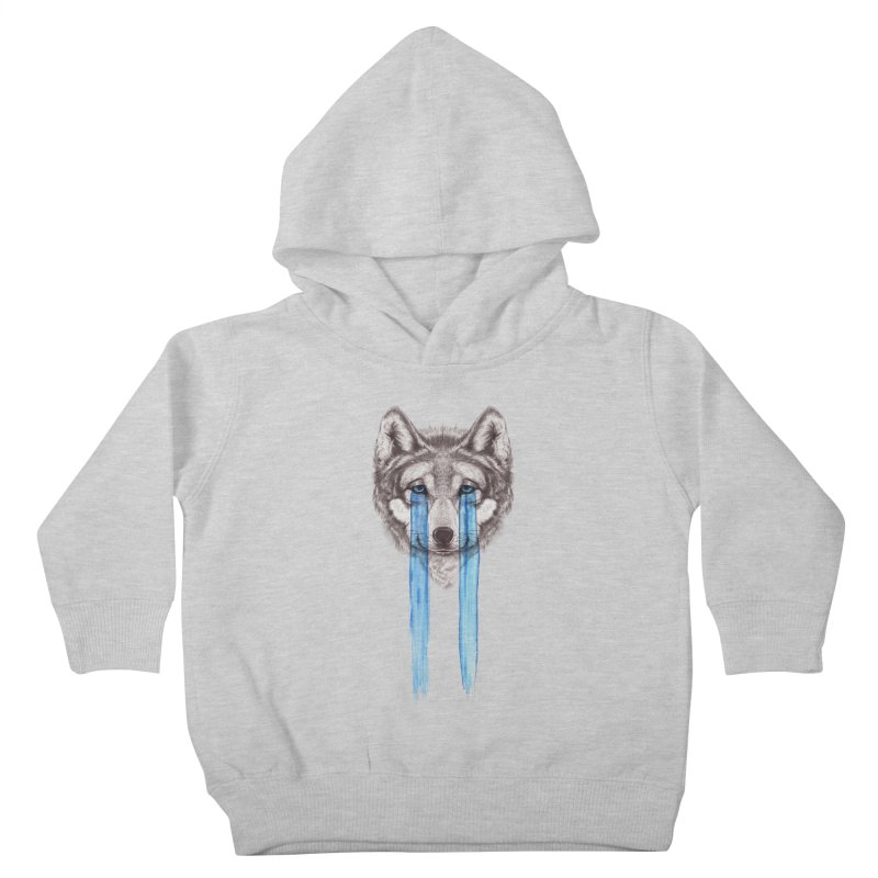 Don't Cry Wolf Kids Toddler Pullover Hoody by Luke Wisner