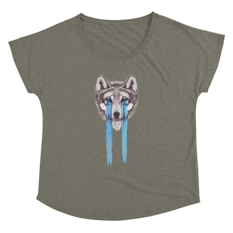 Don't Cry Wolf Women's Dolman by Luke Wisner
