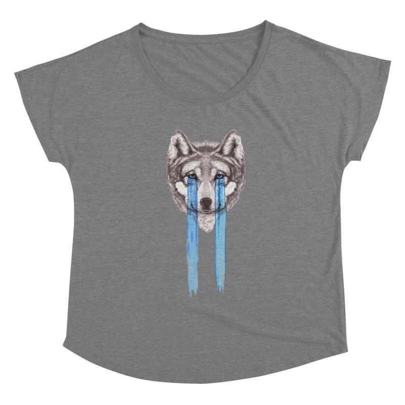 Don't Cry Wolf Women's Scoop Neck by Luke Wisner