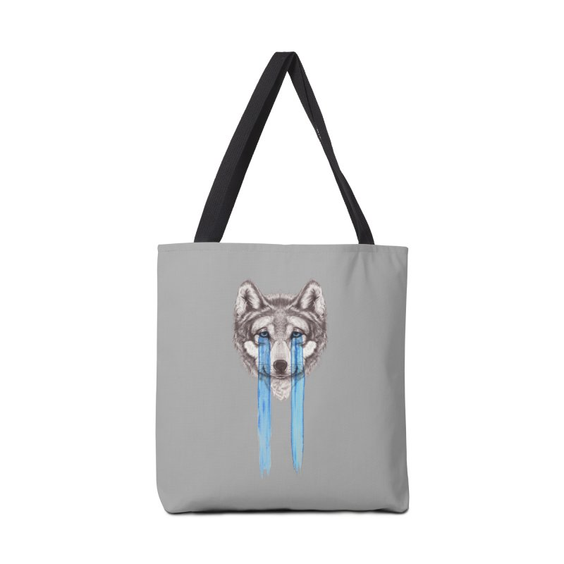 Don't Cry Wolf Accessories Bag by Luke Wisner